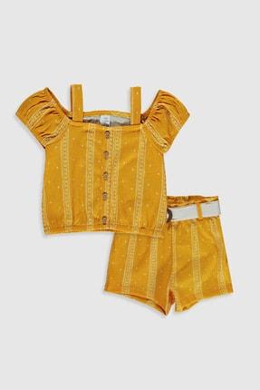 LC Waikiki Kız Bebek Hardal Sarı Bask Luj Alt-Üst Takım 0