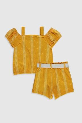 LC Waikiki Kız Bebek Hardal Sarı Bask Luj Alt-Üst Takım 1