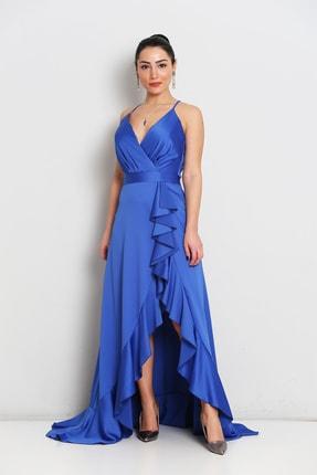 Elbisemhazır Saten Yırtmaç Detay Bayan Abiye 0