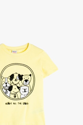 Koton Sarı Erkek Bebek T-Shirt 2