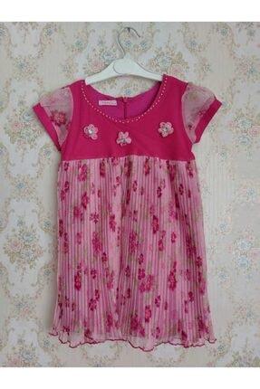 Kız Çocuk Tül Detaylı Elbise Çiçekli ÇÇKLCCK8945001