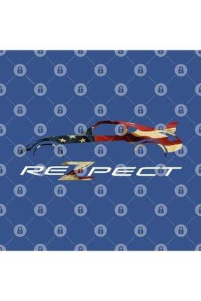 TatFast Rezpect 370z Car Custom Logo American Flag Kupa 2