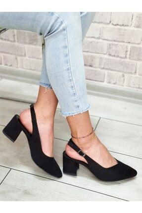 Yeni Elbisem Kadın Siyah Süet Topuklu Ayakkabı 3