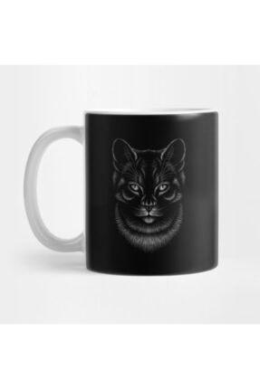 TatFast Artistic Cat's Head Cute Hand Drawn Animal Gift Kupa 0