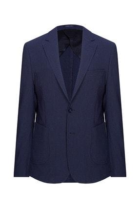 W Collection Erkek Lacivert Mavi Çizgili Blazer 0