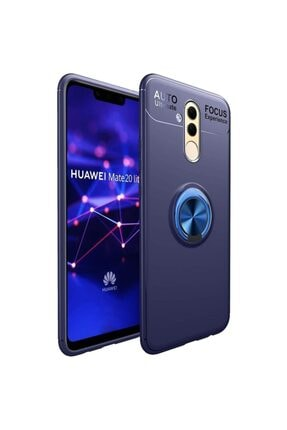 Fibaks Huawei Mate 20 Lite Kılıf Ravel Metal Yüzüklü Standlı Shockproof Silikon 0