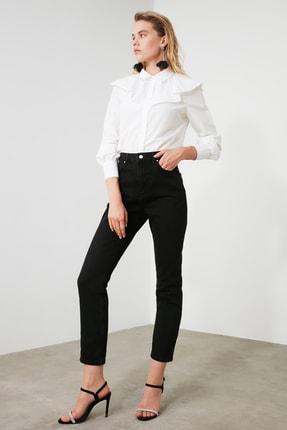 TRENDYOLMİLLA Siyah Yüksek Bel Bootcut Jeans TWOAW21JE0151 1