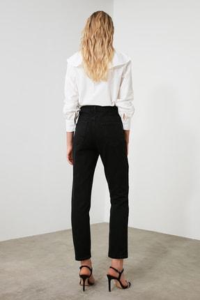 TRENDYOLMİLLA Siyah Yüksek Bel Bootcut Jeans TWOAW21JE0151 4