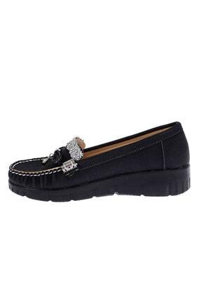 Ayakland Kadın Siyah Babet Ayakkabı Cns 181 3