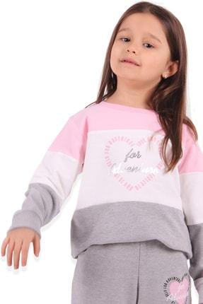 Breeze Kız Çocuk Eşofman Takımı Baskılı Pembe 2