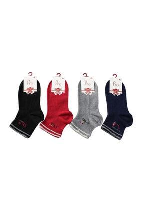 PRO 12'li Paket Çorap Calena Penye Bayan Çorabı 1