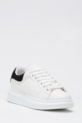 Ayakkabı Modası Kadın Siyah Beyaz Sneaker Spor Ayakkabı  5007-20-110001 2