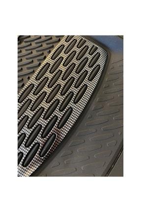 SAFİR Nissan Qashqai Uyumlu Universal Derin Havuzlu Paspas Krom Karbon 2