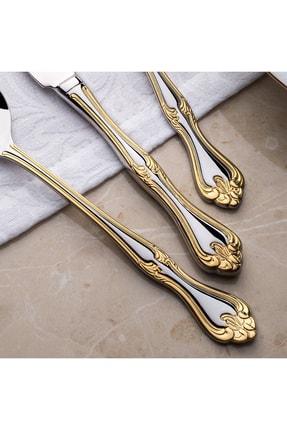 Nehir Lalezar Titanyum Gold 72 Parça Çatal Kaşık Bıçak Takımı 1