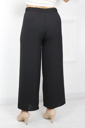 UGİMPOL Kadın Siyah Bol Paça Pantolon 3