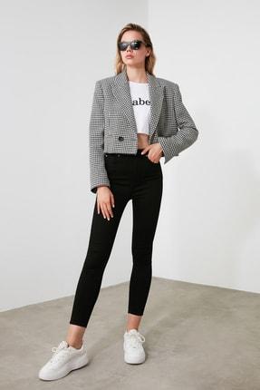 TRENDYOLMİLLA Solmayan Siyah Yüksek Bel Skinny Jeans TWOSS19LR0279 0