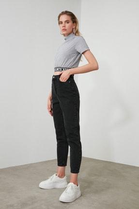 TRENDYOLMİLLA Siyah Yüksek Bel Mom Jeans TWOSS20JE0108 2