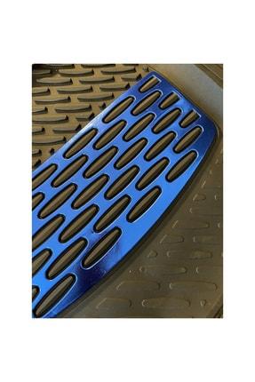SAFİR Nissan Note Uyumlu Universal Derin Havuzlu Paspas Krom Mavi 2