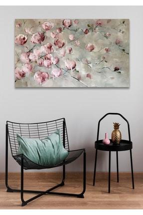 Hediyeler Kapında 50x70 Pembe Çiçek Duvar Kanvas Tablo 0