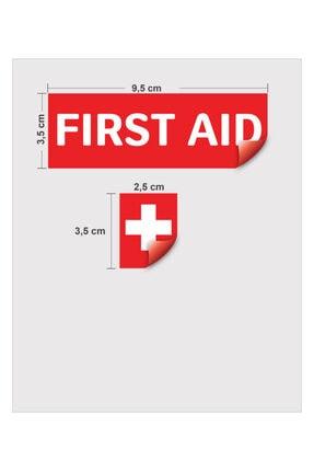Folyograf First Aid / Ilk Yardım Ikon. Yapışkanlı Folyo Etiket / Sticker 1