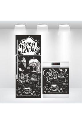 Bigaimaj Buzdolabı Ve Bulaşık Makinesi Coffee Time Kapak Folyo Kaplama 0