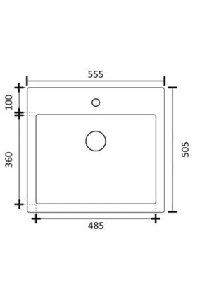 Vıvıano 1 Göz Ankastre 50x56 cm Siyah Granit Evye ve Sifon 3