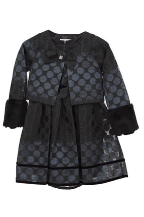 Goose Kız Çocuk Siyah Sım Puanlı Elbise Ceket Tk 0