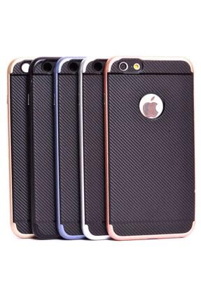 Zore Apple Iphone 6 Kılıf Ince Karbon Mono Silikon Kapak - 1