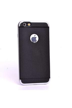 Zore Apple Iphone 6 Kılıf Ince Karbon Mono Silikon Kapak - 4