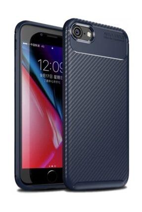 Kilifplus Apple Iphone 8 Kılıf Carbon Serisi Parmak Izi Bırakmayan Silikon - Lacivert 0