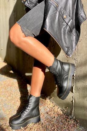 İnan Ayakkabı BAYAN SİYAH BOT&BOOTİE&POSTAL KY92503 1