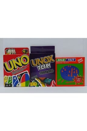 Brother Toys Uno - Unox Tlip Oyun Kartları Ve Solo Test Zeka Testi 3'lü Oyun Seti 0