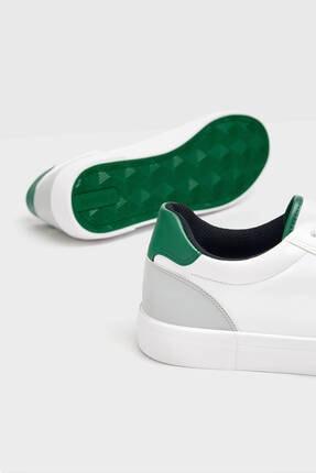 Bershka Erkek Beyaz Topuğu Renkli Detaylı Spor Ayakkabı 4