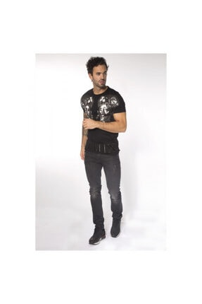 My Brand Erkek SiyahDoubleRomanHeadT-Shirt 0