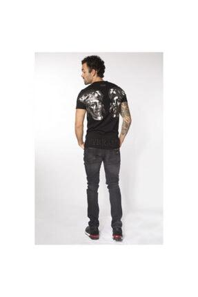 My Brand Erkek SiyahDoubleRomanHeadT-Shirt 1