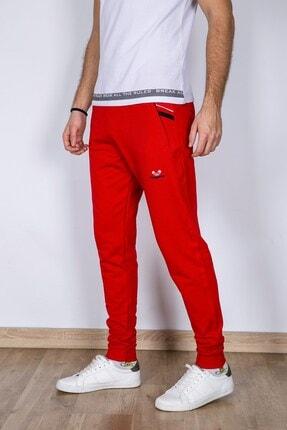MY LIFE Erkek Kırmızı File Detaylı Slim Fit Eşofman Altı 1
