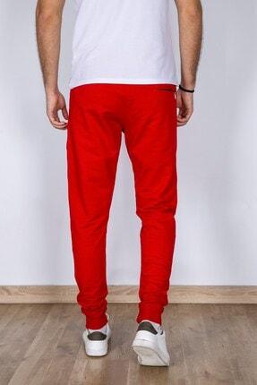 MY LIFE Erkek Kırmızı File Detaylı Slim Fit Eşofman Altı 3