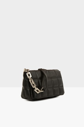Bagmori Siyah Kadın Nakışlı Kapaklı Mini Çanta M000004928 1