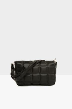 Bagmori Siyah Kadın Nakışlı Kapaklı Mini Çanta M000004928 2