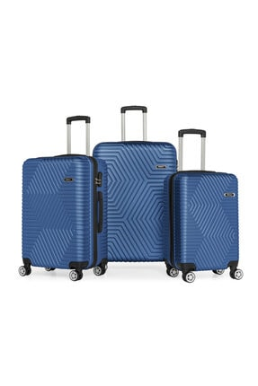 SERAMİKCİ Polo Mavi 3'lü Valiz Set 0