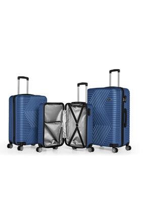 SERAMİKCİ Polo Mavi 3'lü Valiz Set 1
