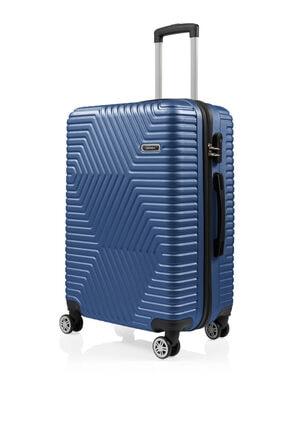 SERAMİKCİ Polo Mavi 3'lü Valiz Set 2
