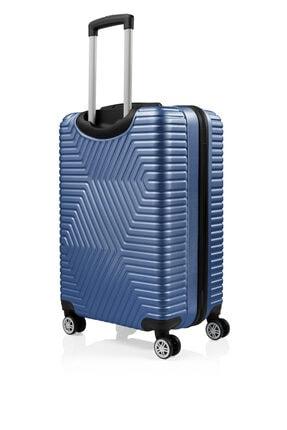 SERAMİKCİ Polo Mavi 3'lü Valiz Set 3