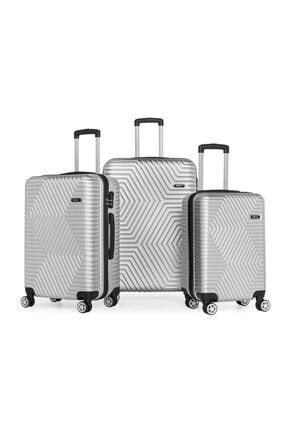 SERAMİKCİ Gümüş 3'lü Valiz Set 0