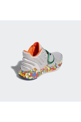 adidas Kadın Gri Deep Threat Basketbol Ayakkabısı 2