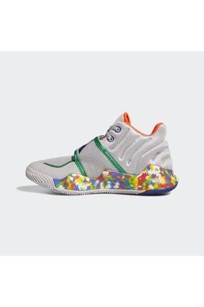 adidas Kadın Gri Deep Threat Basketbol Ayakkabısı 3