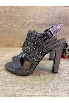 BUTİK 37.5 Kadın Gri Abiye Topuklu Ayakkabı 3
