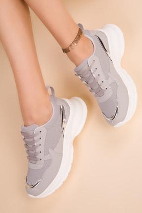 Soho Exclusive Buz-Gümüş Kadın Sneaker 15217 0