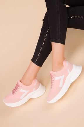 Soho Exclusive Pudra-Beyaz Kadın Sneaker 15218 0