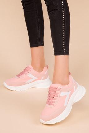Soho Exclusive Pudra-Beyaz Kadın Sneaker 15218 1
